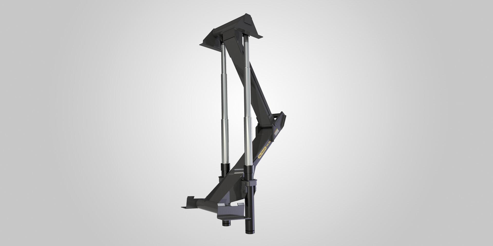 Olympic Twin stabilized telescopic hoists   PALFINGER