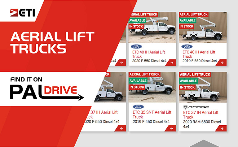 ETI Aerial Lift Trucks Available For Purchase