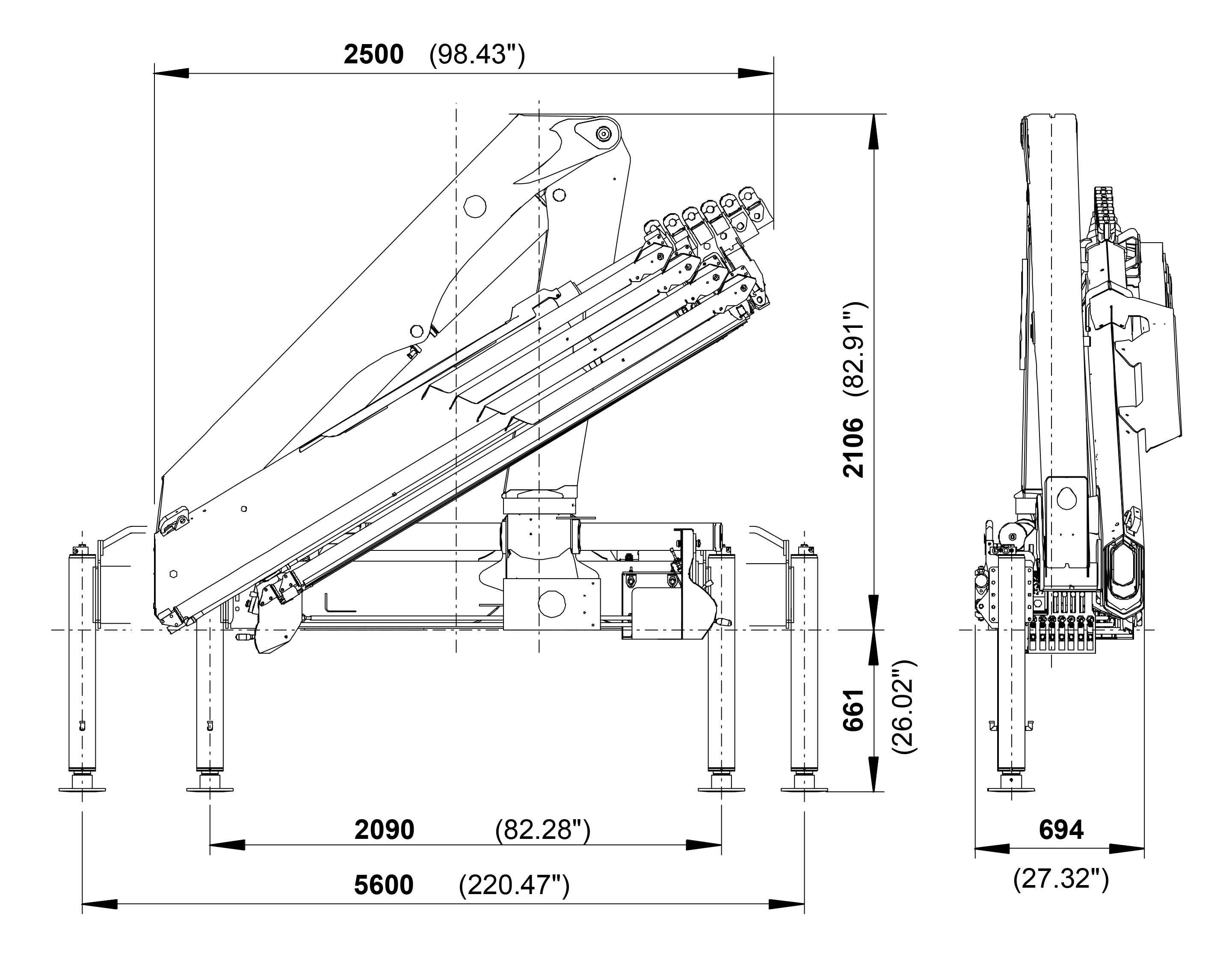 Pk 10000 Performance Palfinger Crane Schematic Cranes Shown In The Leaflet Are Partially Optional Equipped And Do Not Always Correspond To Standard Version Country Specific Regulations Must Be
