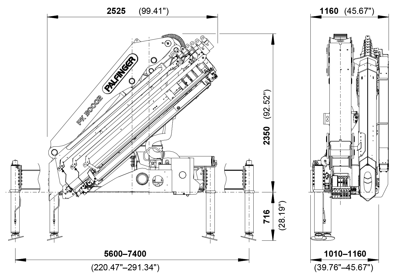 Cranes shown in the leaflet are partially optional equipped and do not  always correspond to the. PK 30002 High Performance | PALFINGER ...