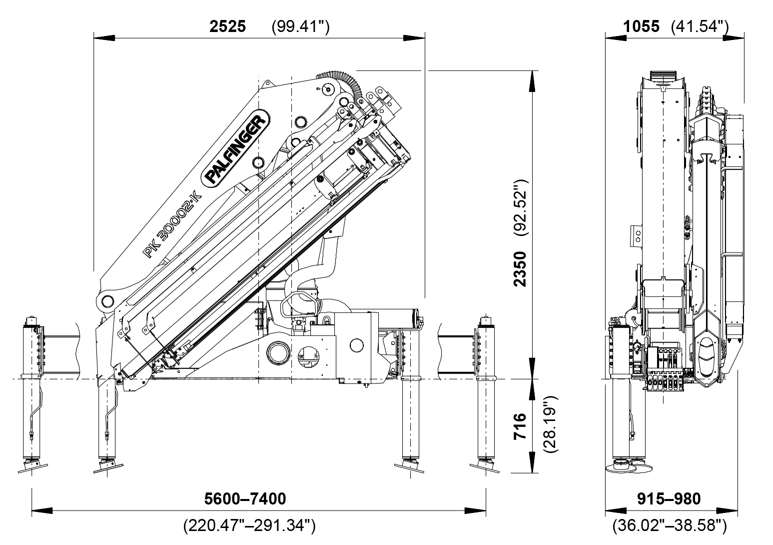 Pk 30002 K High Performance Palfinger Wiring Diagrams Cranes Shown In The Leaflet Are Partially Optional Equipped And Do Not Always Correspond To Standard Version Country Specific Regulations Must Be