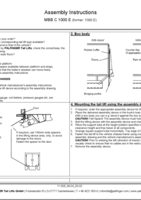 tail lift operating instructions
